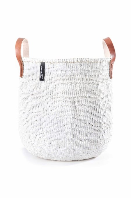 Mifuko Kiondo Medium Basket - white
