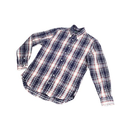 Gitman Vintage Plaid Flannel - Navy/White