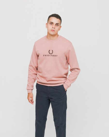 Fred Perry Embroidered Sports Authentic Sweatshirt - Pink