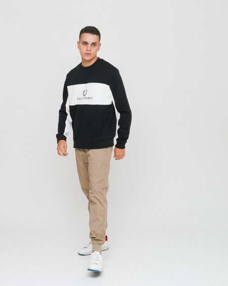 Fred Perry Piped Sports Authentic Sweatshirt - Black