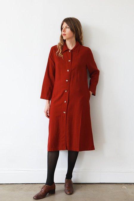 Me & Arrow Long Jacket Dress - Garnet