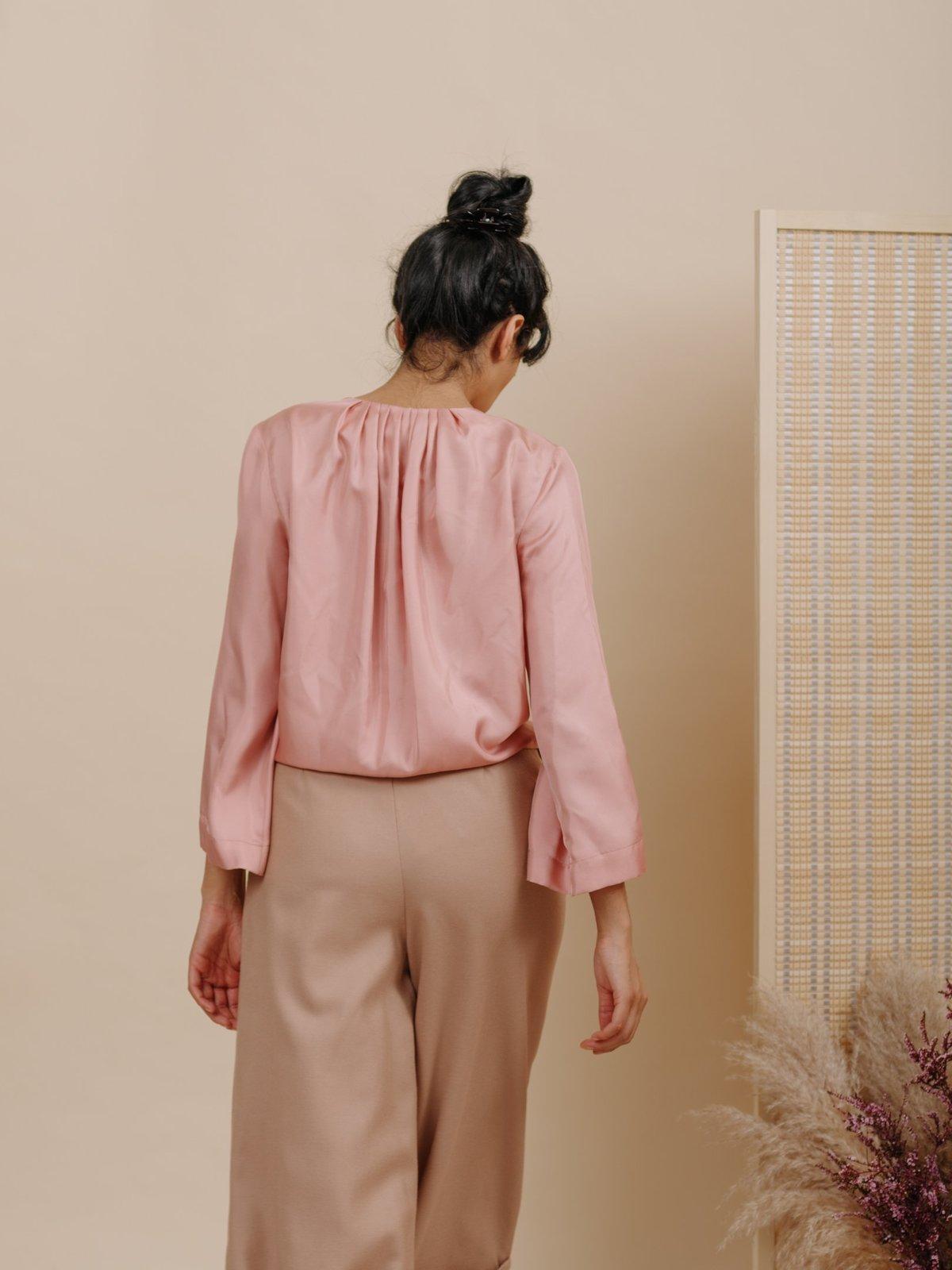 5541d5508ed687 Wolcott   Takemoto Diane Silk Blouse - Blush