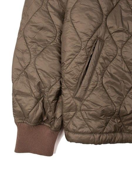 Save khaki United Quilted Nylon Warm Up Bomber