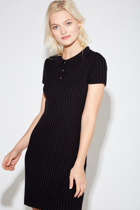 Callahan Yollie Ribbed Dress - Black