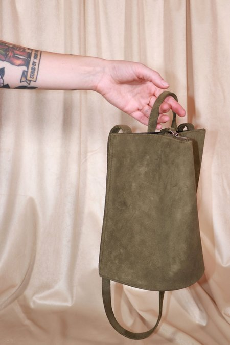 The Common Knowledge Suede Pinch Bag - Moss