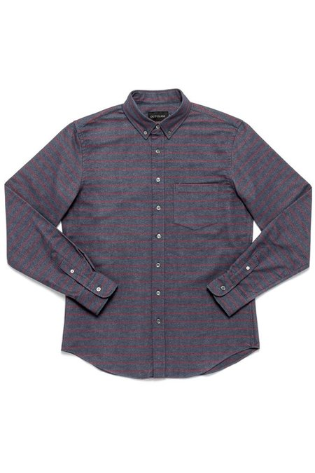 Outclass Barre Stripe Flannel Shirt - Maroon