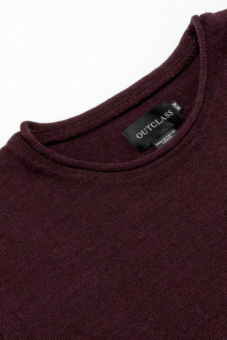 Outclass Roll Neck Sweater - Maroon