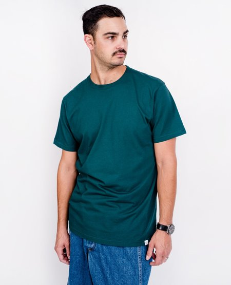 Norse Projects Niels Standard Tee - Quartz Green