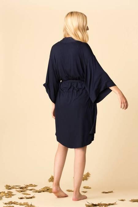 Maison Du Soir Florence Knit Robe - Dark Navy