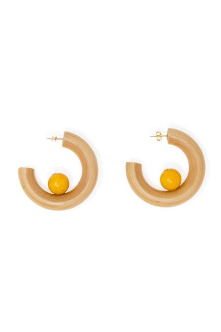 Sophie Monet El Sol Earrings - Brown/Yellow