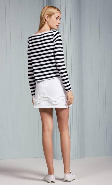 The Fifth Label Symbol Stripe Top - Black/White Stripe