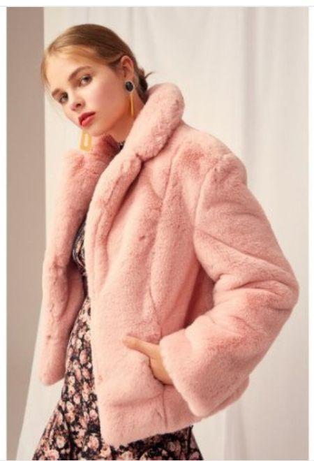 Keepsake Stay with Me Fur Coat - Blush