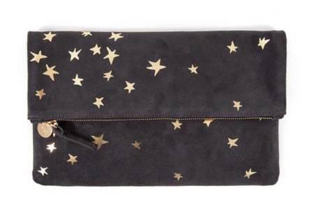 Clare V. Foldover Clutch - Slate Stars