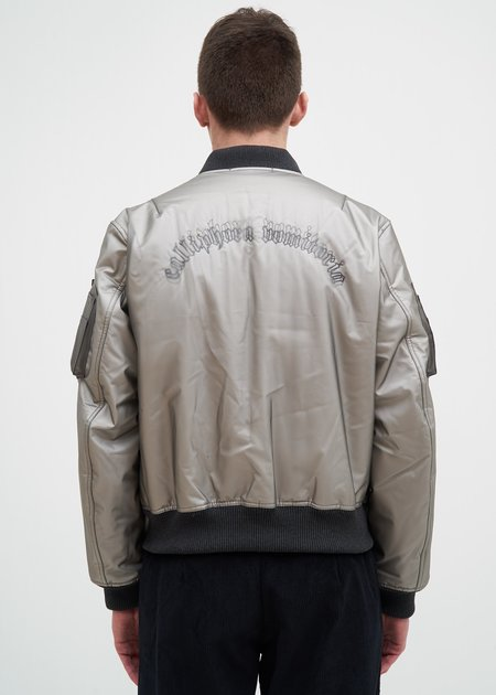 Komakino Transparent Quilted MA-1 Jacket - Gray