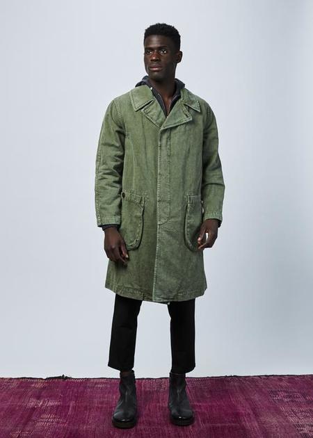 Sage de Cret Washed Surplus Overcoat - Olive