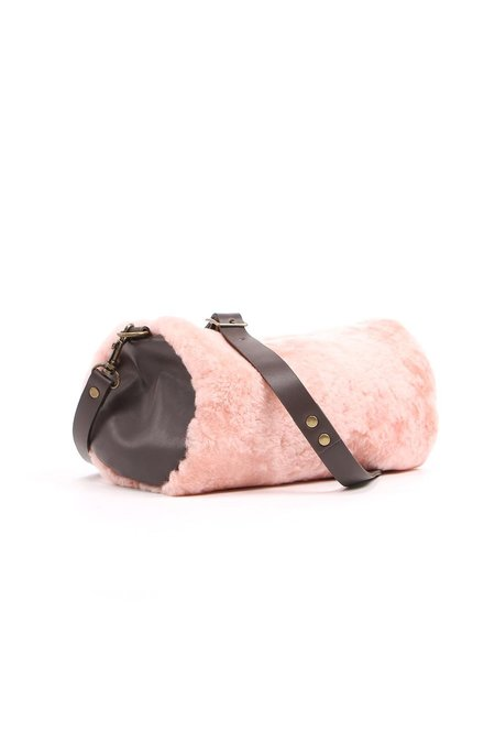 Stitch and Tickle Saint Germain Shearling Bag - Rose