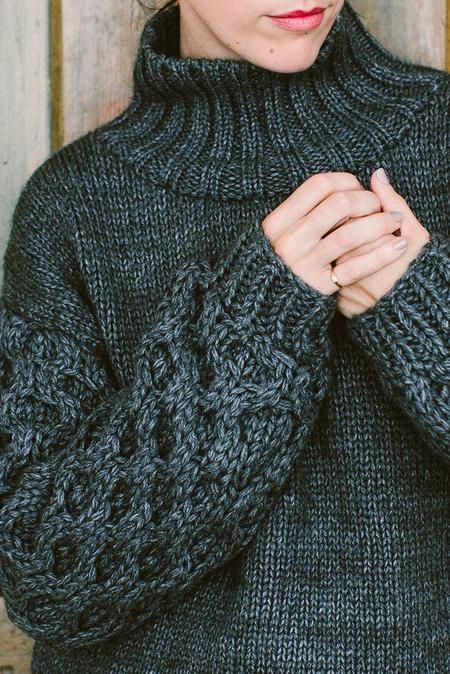 V de Vinster Chunky Sleeve Sweater
