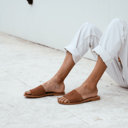 AIKO Basic Suede Slides - Clay