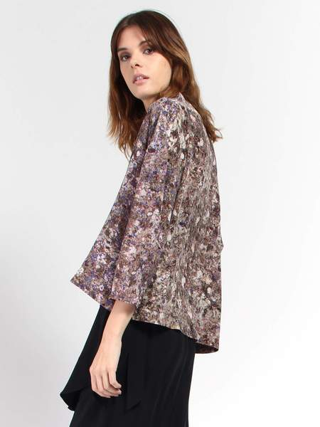 Anntian Asymmetrical Silk Top