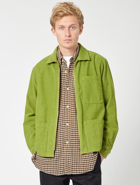 MFPEN Cord Zip Shirt - Green