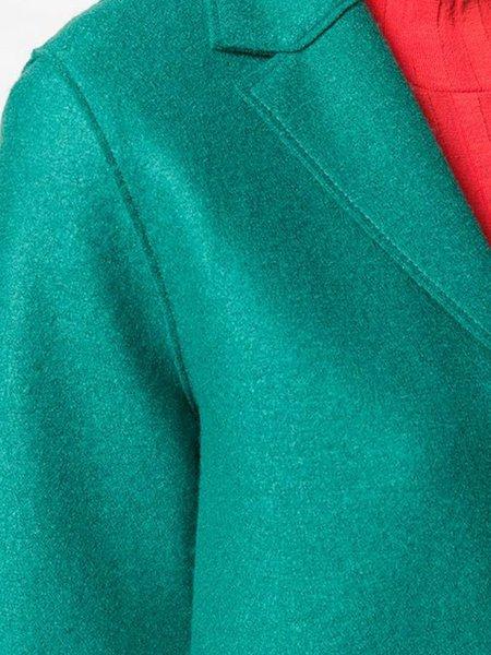 Harris Wharf Pressed Wool Overcoat - Evergreen