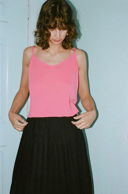 Suzanne Rae Cotton Jersey Knit Tank - Fuchsia