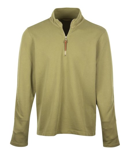 Albam Zipped Jersey Sweatshirt - Green