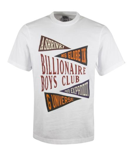 Billionaire Boys Club Pennant Print Tee - White