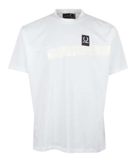 Fred Perry x Raf Simons Tape Detail T-Shirt - White