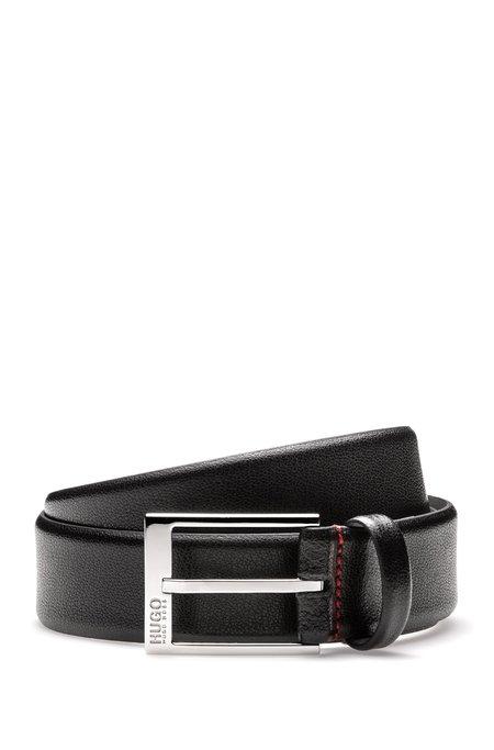 Hugo Gellot Leather Dress Belt - Black