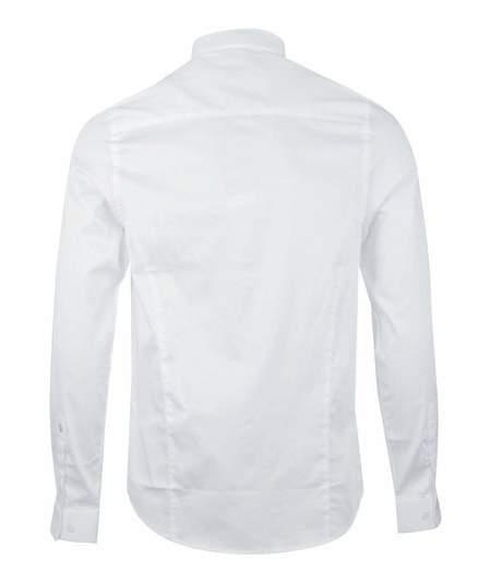 Luke 1977 Butchers Pencil L/S Shirt - White M400902W
