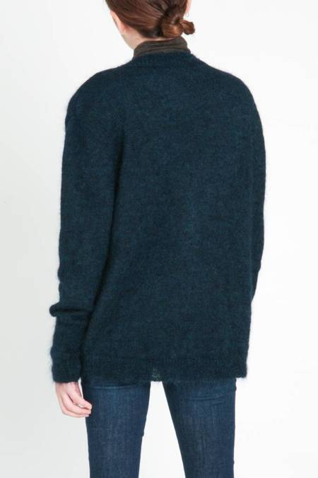 Masscob Fluffy Cardigan - Navy
