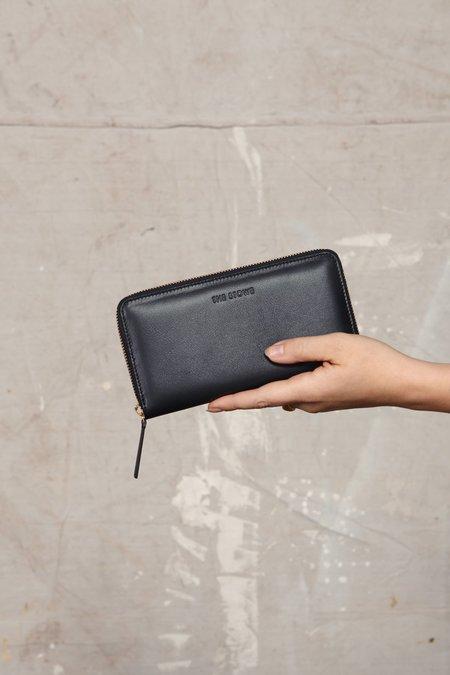 The Stowe Zip Wallet - Black Nappa