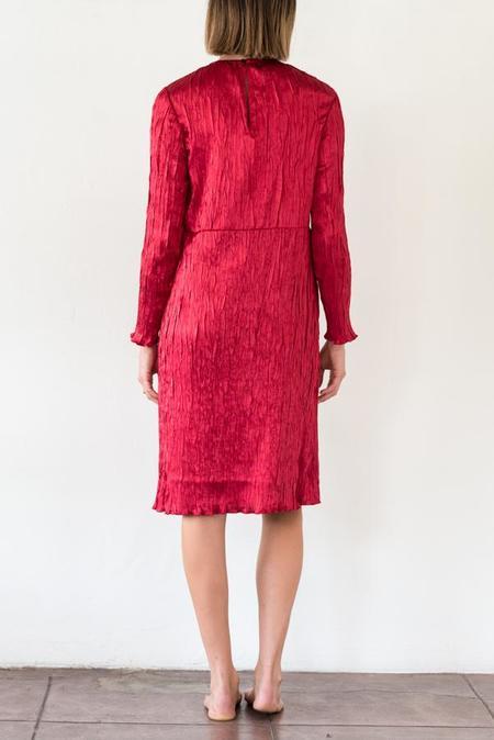 Pomandere Fortuny Dress - Rouge