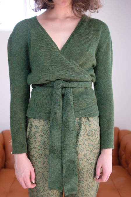 Beklina Alpaca Ballet Wrap Sweater - Fauna