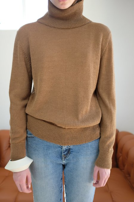Beklina Baby Alpaca Turtleneck - Brown