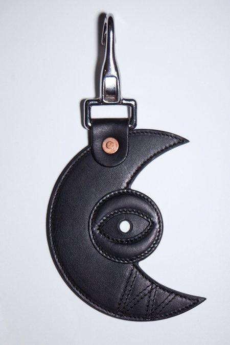 Walter Van Beirendonck Sun & Moon Charm Keychain - Black