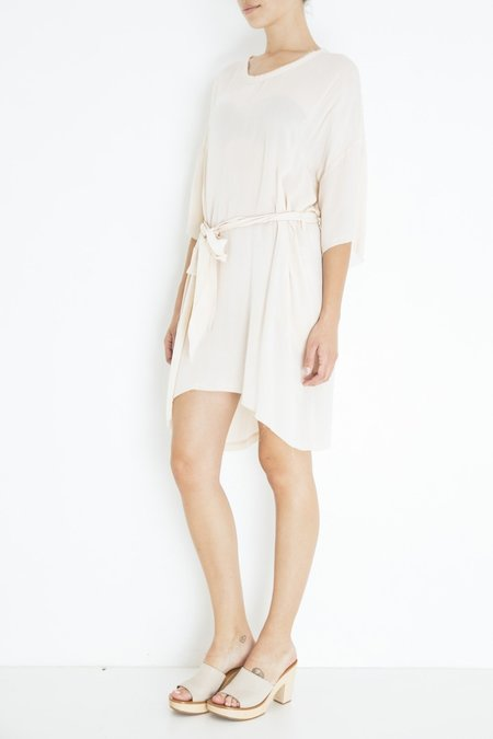 Raquel Allegra Belted Boxy Dress - Antique White