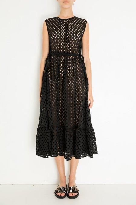 Ne Quittez Pas Eyelet Dress - Black