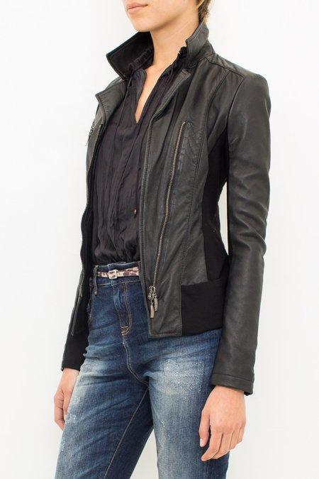 Manila Grace Leather Jacket - Black
