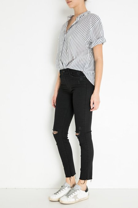Mother Denim Looker Ankle Fray - Guilty As Sin