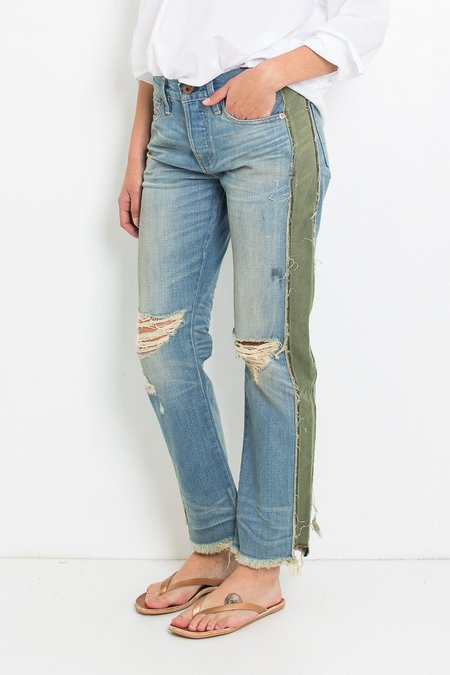 Nsf Maggie Crop Straight Slouch - Harbor