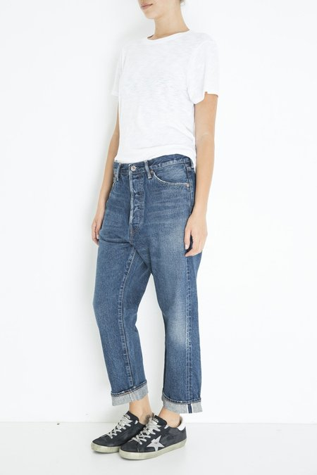 Chimala Wide Tapered Cut Jeans - Med Vintage