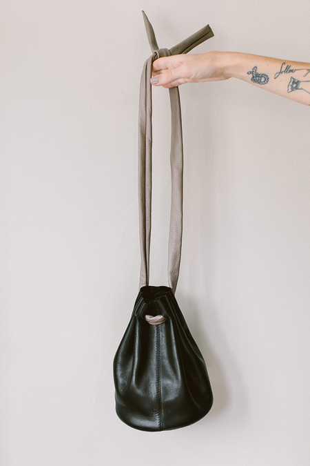 Emas Small Bucket Bag - Black