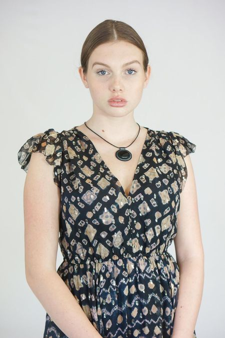 Robin Mollicone Beaded Carina Necklace - Onyx