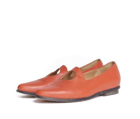 The Palatines Palla Pointed Toe Cut Out Nappa Leather Loafer - Pomegranate