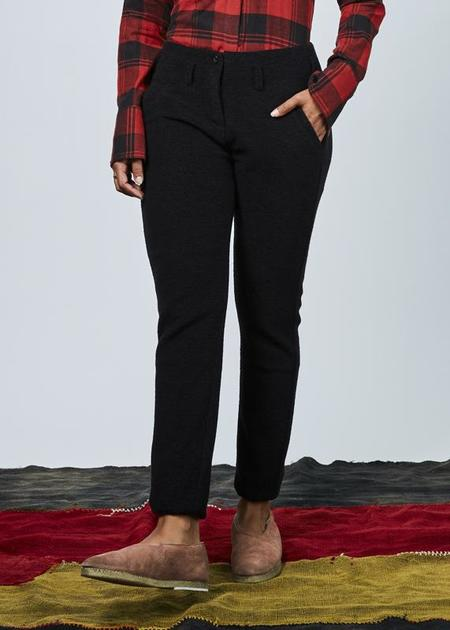 Hannes Roether Maybach Wool Blend Pant - Black
