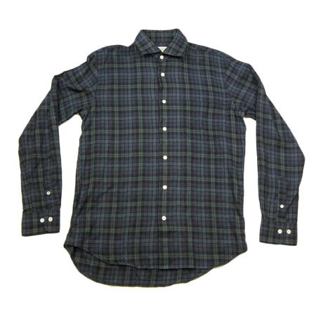 Hartford Penn Watch Plaid Shirt - Navy/Green Black