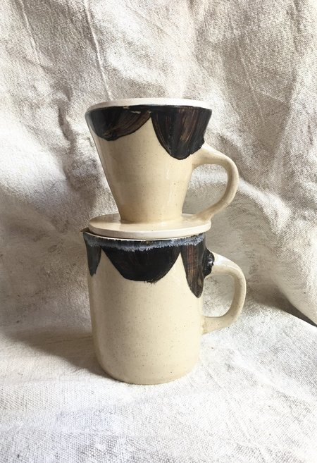 Drew Schenck Ceramic Pour Over Coffee Pot - Moo Spots