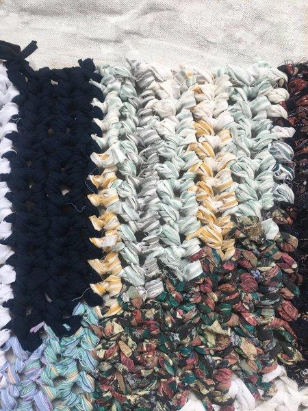 Brave Hand Textiles Crochet Throw Rug - Prep School Rebel